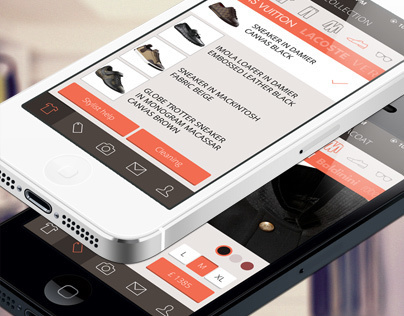 The Virtual Wardrobe mobile app