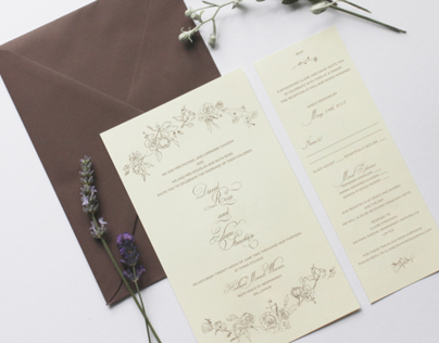 Claire and David Ross Wedding Invitations