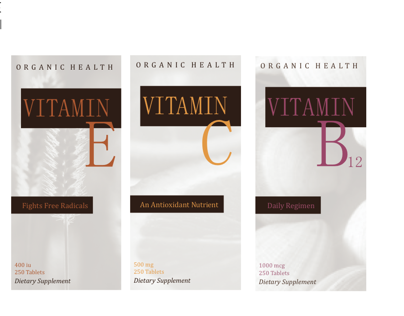 Package Design // Vitamin Boxes
