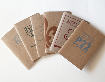 P22 Type Specimen Chapbooks