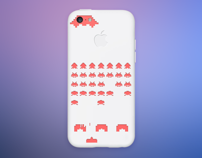 Space Invaders iPhone 5c case design