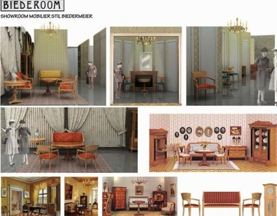 Biedermeier furniture showroom