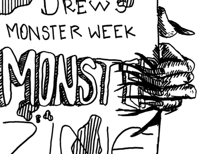 Drew's Monster Week MONSTER Zine