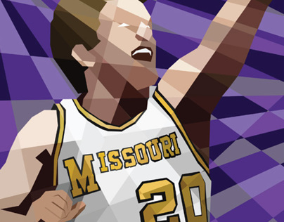 Missouri Basketball Illustrations