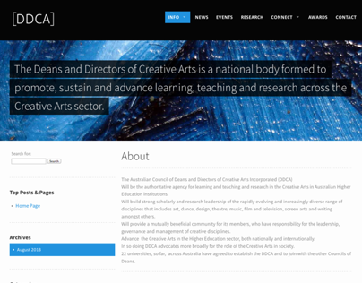 Deans and Directors of Creative Arts Website