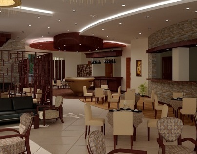 Restaurant interior rendering for MIK
