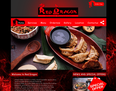WEBSITE MOCK UP DESIGN