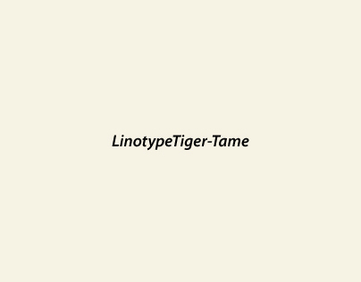 Linotype Tame