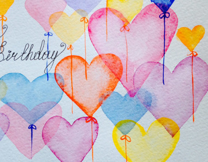 Watercolor Happy Birthday