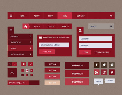 Dolce Blog Flat UI Set