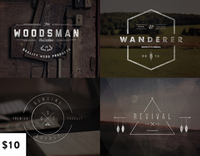 Vintage Logo & Insignia Set on Creative Market
