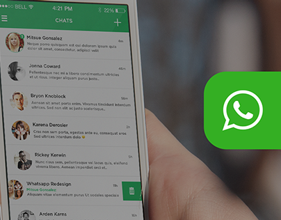 WhatsApp Messenger - iOS 7 Redesign