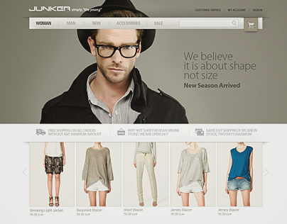 Junker E-Commerce Portal Design