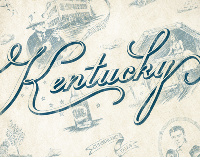 Kentucky Toile and Candle Labels