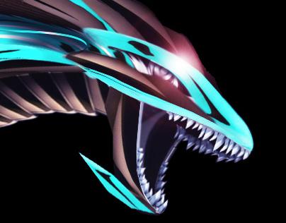 Sea Metal Dragon Artwork