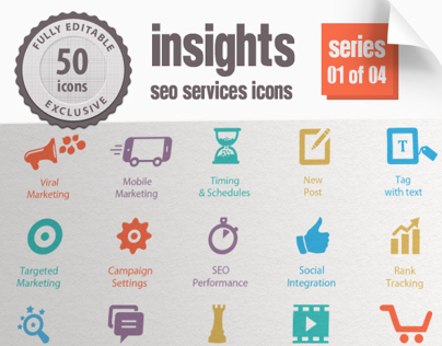 Insights SEO Services Icons - Series 01 of 04