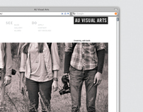 AU Visual Arts Web Site Redesign