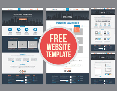Free Flat Website Template