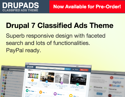 DrupAds - Drupal 7 Classified Ads Responsive Design
