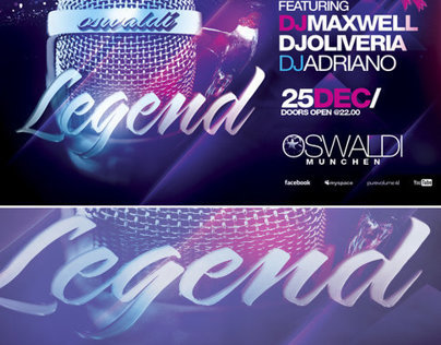PSD Legend Flyer + Mixtape Cover