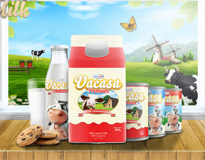 Vacasa Milk Package Design