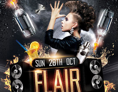 Flair Bartending Flyer Template