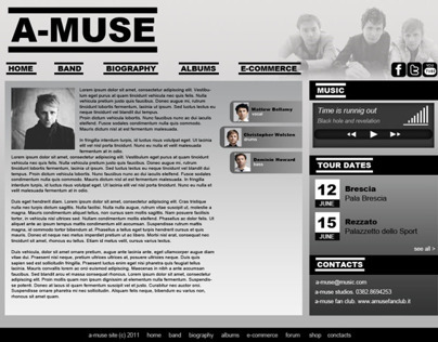 Web Design - A-Muse