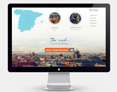UI/UX Design for a Start-up based in Madrid