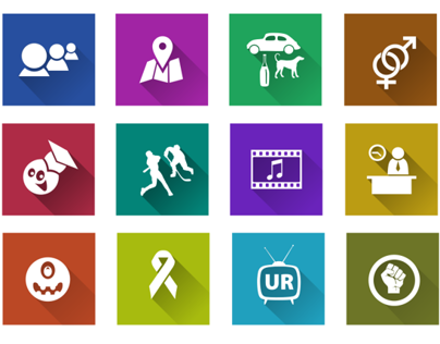 Icon set for social based portal