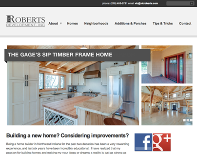Vic Roberts Builder Web Site