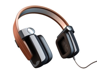 Wooden Band Headphones