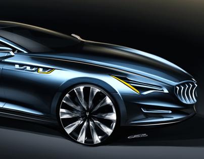 Car design sketches #2