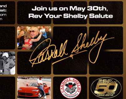 Carroll Shelby Memorial Advertisement