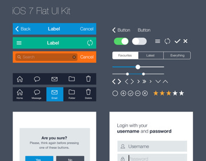 Flat iOS UI Kit