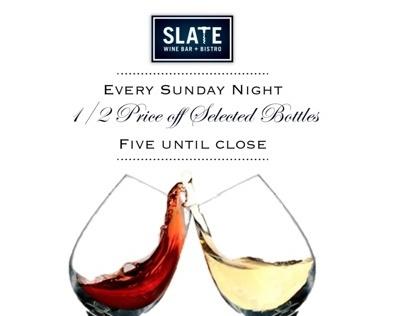 Slate wine bar +bistro