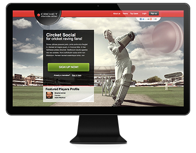 Cricket Social Website - UI / UX