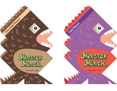 CHILDREN'S CEREAL PACKAGING- Monster Munch