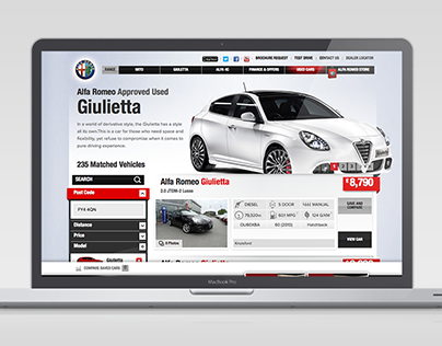 Alfa Romeo Used Vehicle Locator