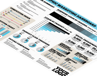 Infographic Marketing Dashboard