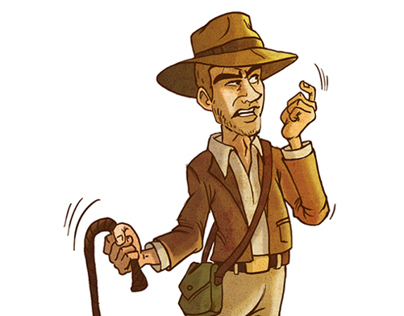Indiana Jones, Cartooning