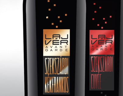 Lajvér Premium wine label design concepts