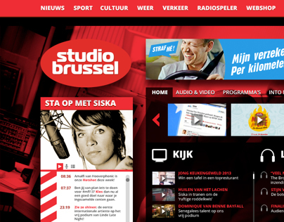 Redesign Studio Brussel Website