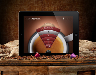 Nespresso iPad Flavor Wheel