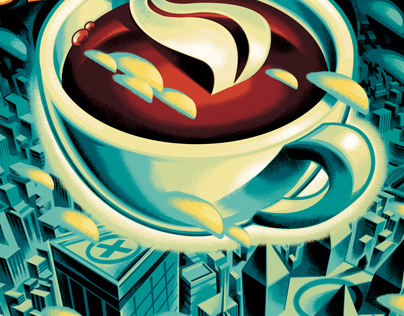 UPTOWN COFFEE Poster Art