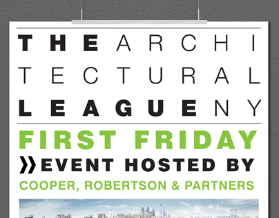 Architectural League, First Friday Event