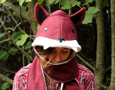 Fox Hooded Scarf