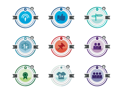 Badges for Gamification Plataform
