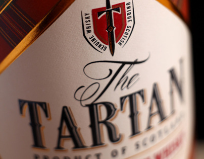 "Whiskey Label Design ""Tartan"""