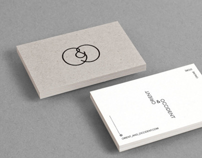 Brand identity for Orient & Occident online store