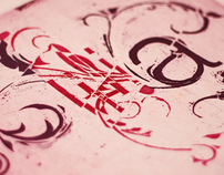 Floral Typography - Engraving